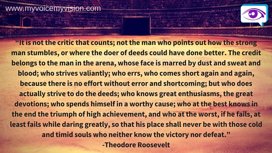 Teddy Roosevelt Man in the Arena quote