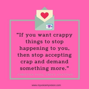 stop accepting crap